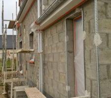 preparation de la facade sud protections d angles