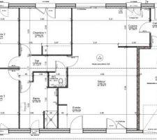 Plan définitif concernant les ouvertures extérieurs. Les cloisons intérieur seront affinés lors de la MAP