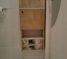 WC - Meuble de rangement DIY