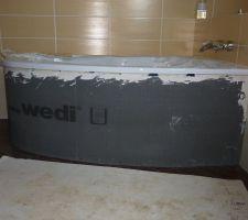 Habillage de la baignoire