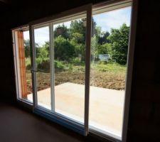 baie vitree coulissante occilo de 3m donnant sur la terrasse