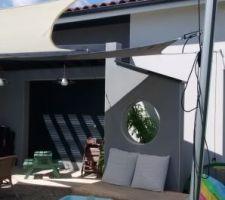 Installation des voiles d'ombrage