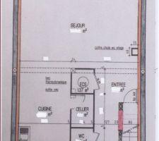 rdc avec vaste sejour inclus deux baies vitrees dimensions effacees a la demande du constructeur