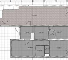 le plan de la maison avant renovation vous voyez en bas l appartement que nous avons transforme en suite parentale