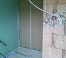 cloison exterieur salle de bain futur wc rdc