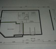 Chambre 2 et 3 à droite de la photo et mezzanine à gauche donnant sur le vide sur salon (fermé par le constructeur pour le test d'étanchéité)