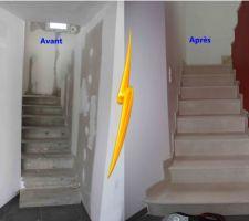 Escalier en pierre (finition à terminer)