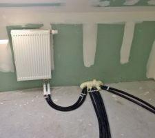 chauffage salle de bain de l etage