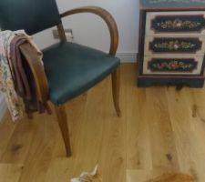 Avons ressorti nos fauteuils et la commode ( chambre )