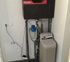 Pompe récupérateur des eaux de pluie et adoucisseur
