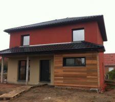 La maison est terminée - finalisation des extérieurs prévue en septembre