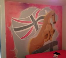 Tag cheval/Londres roses gris ok!! Magnifique j'adore!!!