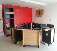 montage des meubles en cours