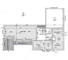 plan incluant murs porteurs vu avec be bois