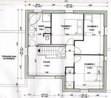 etage 3 chambres sdb palier