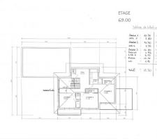 plan etage projet 2