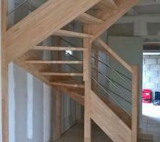 L'escalier qui trône ! Un vrai meuble !