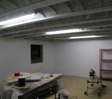 Cave enduite au portier   peinture glycero