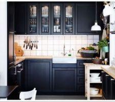 cuisine Laxarby brun noir