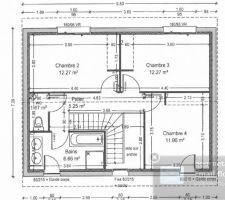 plan initial de l etage avant la demande de modification de la mairie