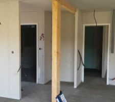 acces garage et chambre rdc