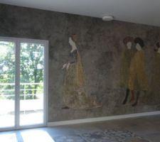 Fresque posée