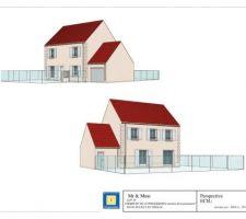 1ère proposition de plan de Maison Sésame correspondant à mes attentes reste juste à rajouter les menuiseries en PVC et dessiner la