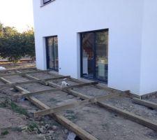 Montage de la terrasse