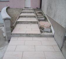 carrelage de l escalier d acces a l entree