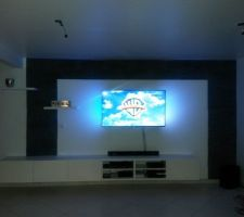 Inauguration de l'installation de la TV