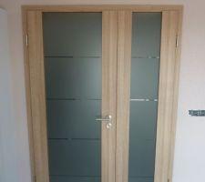 Porte double couloir - pièce de vie