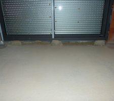Scellement intérieur d'un seuil en granit