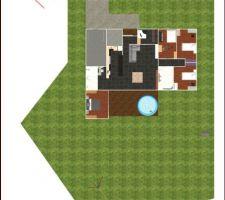 plan 2d terrain et maison