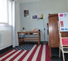 Chambre du titi repeinte proprement