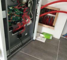 raccordement electrique de la pompe a chaleur en cours