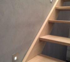 spots dans les escaliers