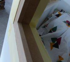 realisation de la verriere entre le salon et le bureau protection des murs et du bureau avant peinture