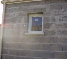La fenêtre de notre salle de bain