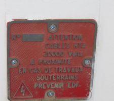 Ancienne plaque achetée en brocante