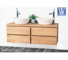 Choix meuble en teck double vasque