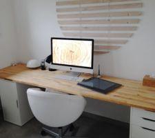 Nouveau bureau plus en phase avec la déco de la maison