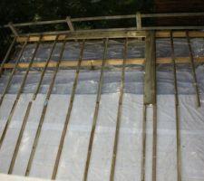 vue de l etage fixation des lambourdes