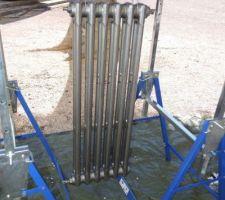 premier radiateur en fonte repeint