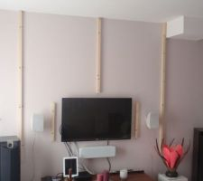Structure du mur tv