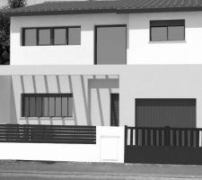 maison de ville contemporaine toit mixte pour notre 2ieme construction