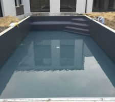 Photos et id es piscine liner gris 1 204 photos - Piscine avec liner gris clair ...