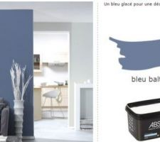 pour la chambre des parents la couleur bleu pour la chambre des parents est prise une chance c etait les derniers 4 pots avant fin de serie oufff