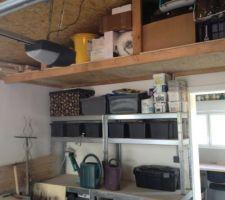 Mezzanine de rangement garage