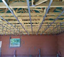 en attendant la livraison des fenetres les rails sont fixes au plafond
