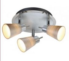 luminaire salle de bain etage facon alu brosse strie